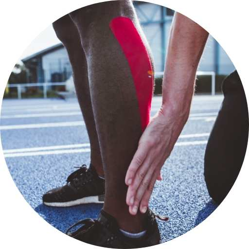 How to use Kinesiology Tape - step 3 - rub to activate