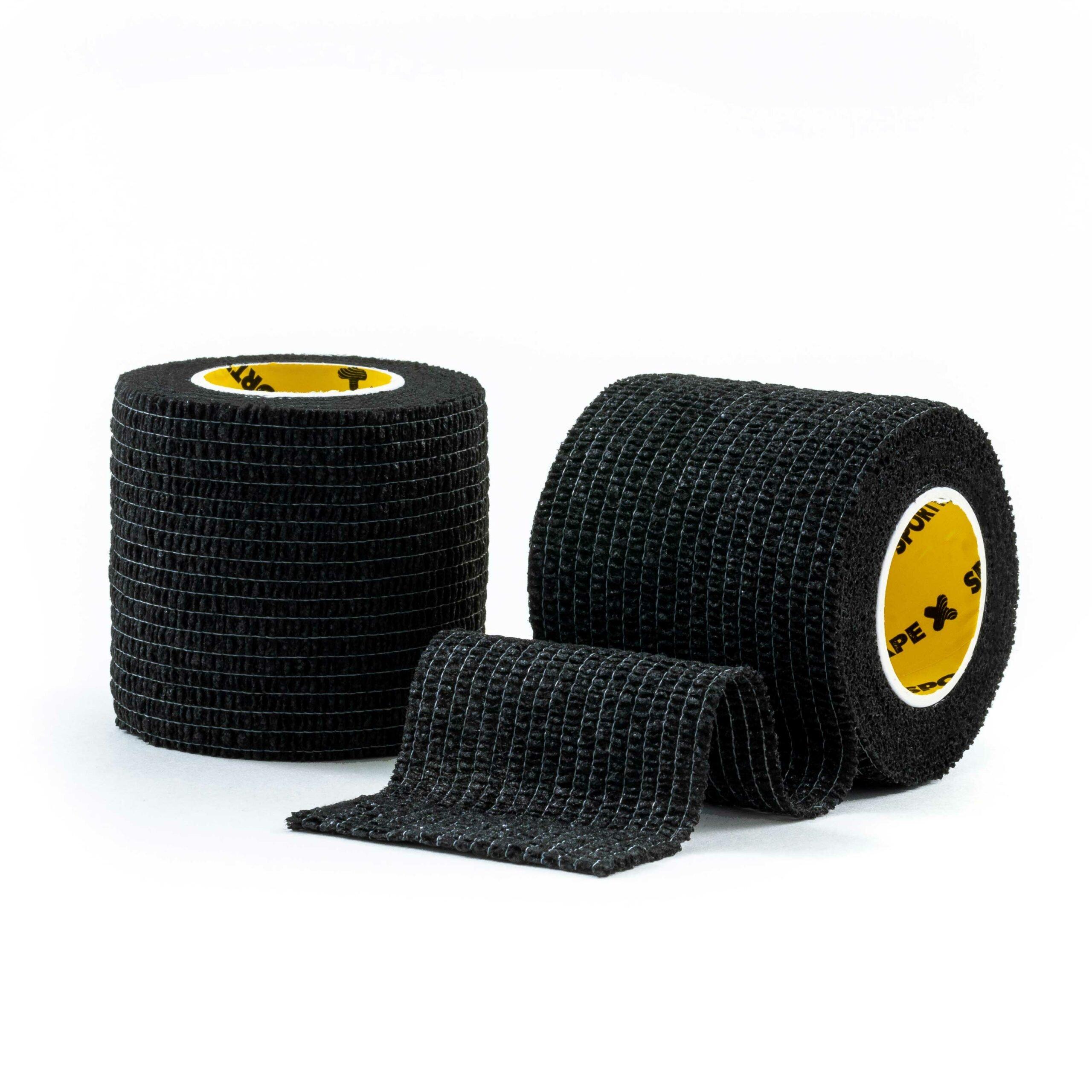 Cohesive Tape Black 5cm 2 Rolls