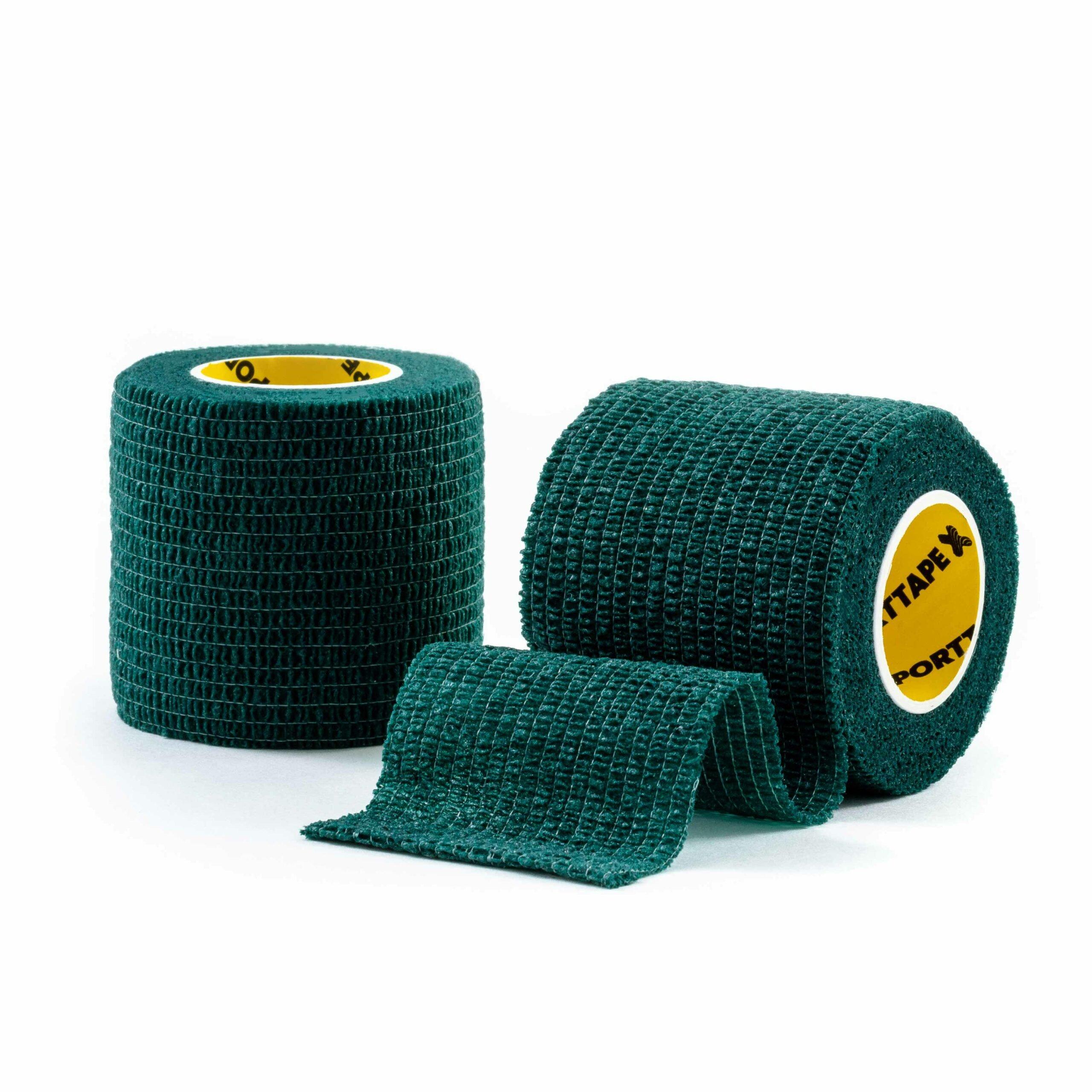 Cohesive Tape Green 5cm 2 Rolls