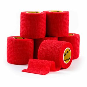 Cohesive Tape Red 5cm 6 Rolls