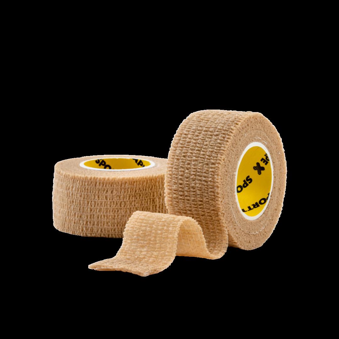 Cohesive Tape 2.5cm Tan 2 Rolls