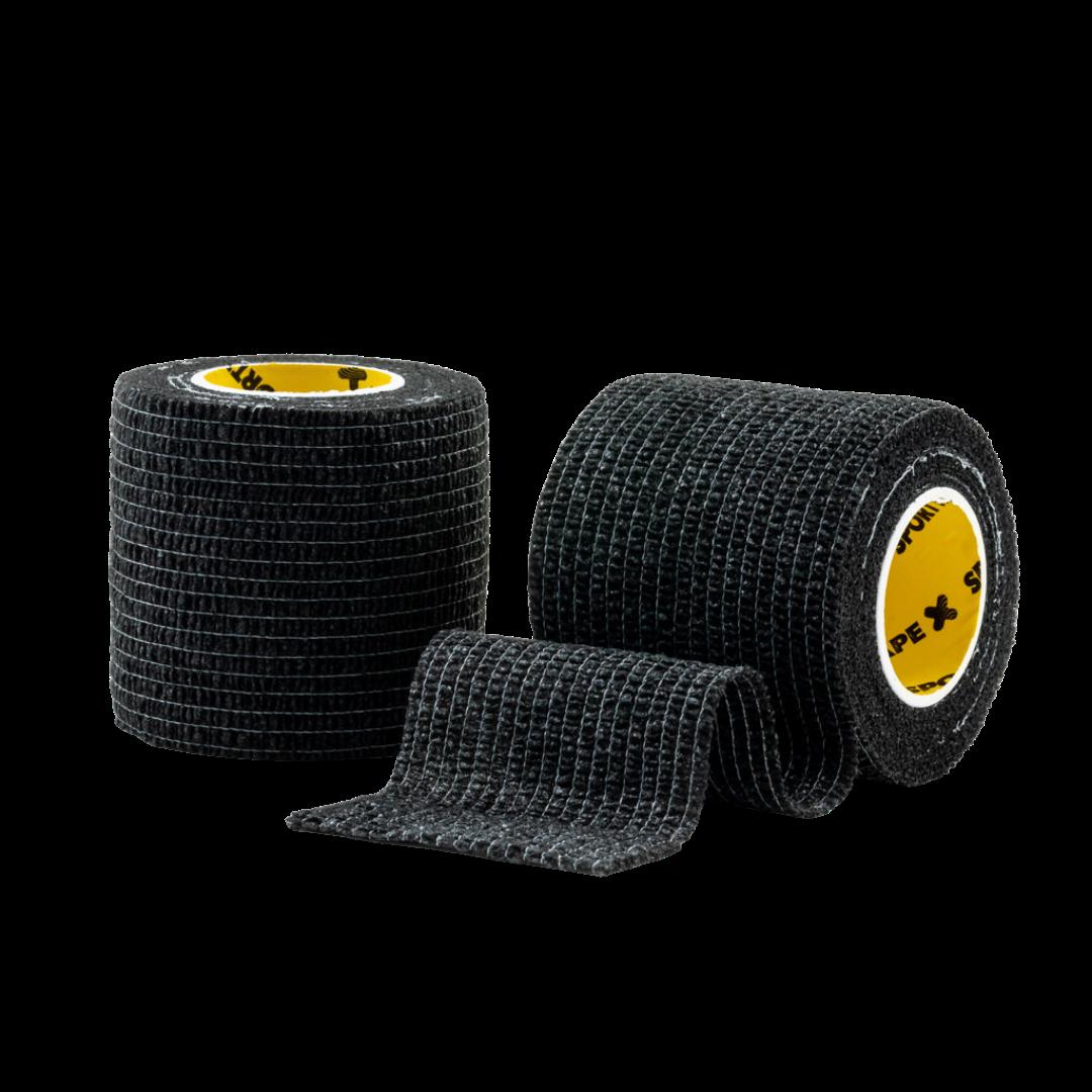 Cohesive Tape 5cm Black 2 Rolls