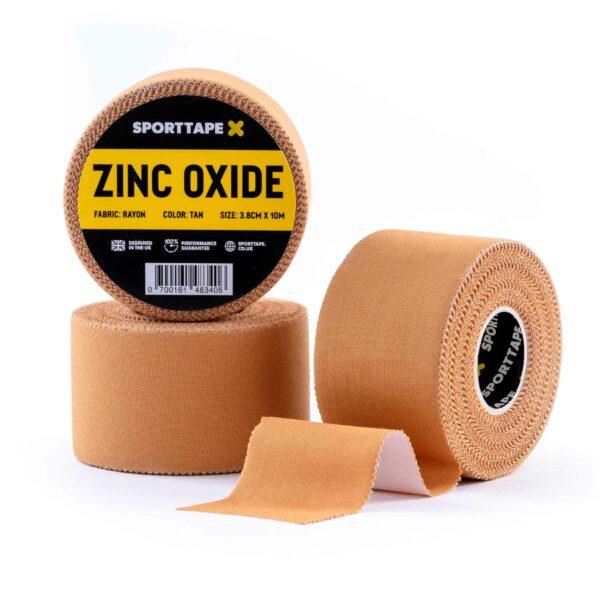 Zinc Oxide 3.8cm x 10m Tan 3 Rolls
