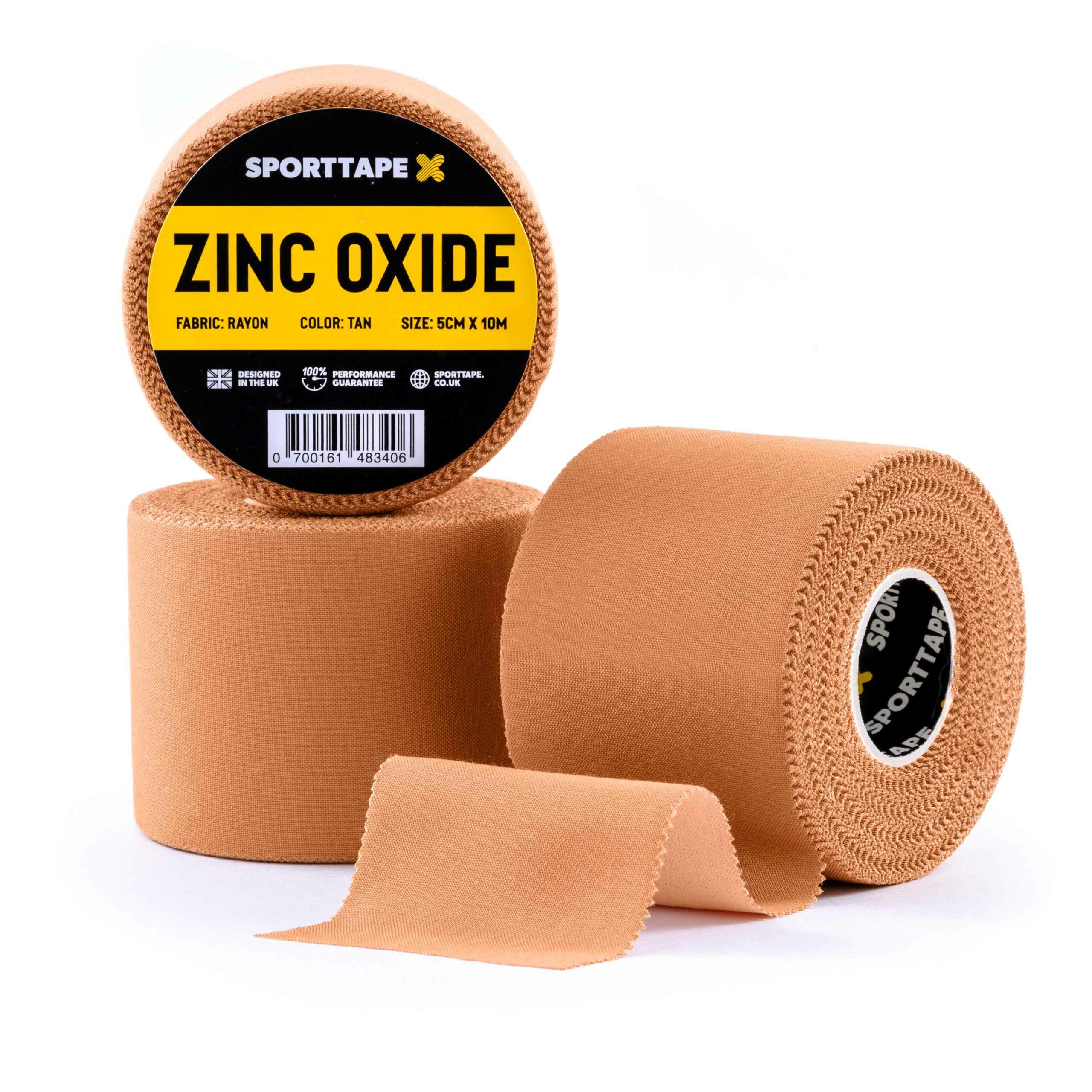 Zinc Oxide 5cm x 10m Tan 3 Rolls