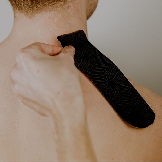 how to apply kinesiology tape and k tape upper trapezius injuries