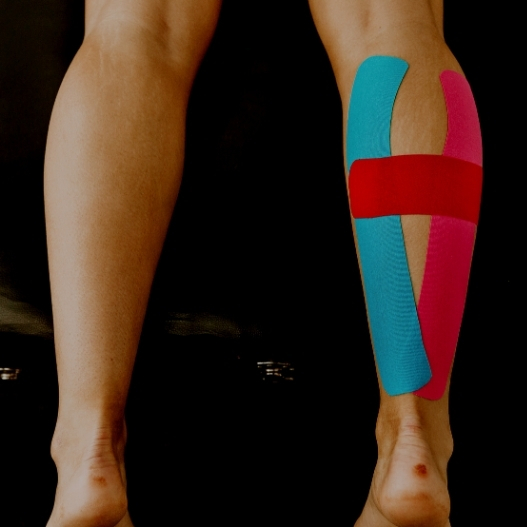 Kinesiology Taping for Calf Strain. Physio Taping for Calf.
