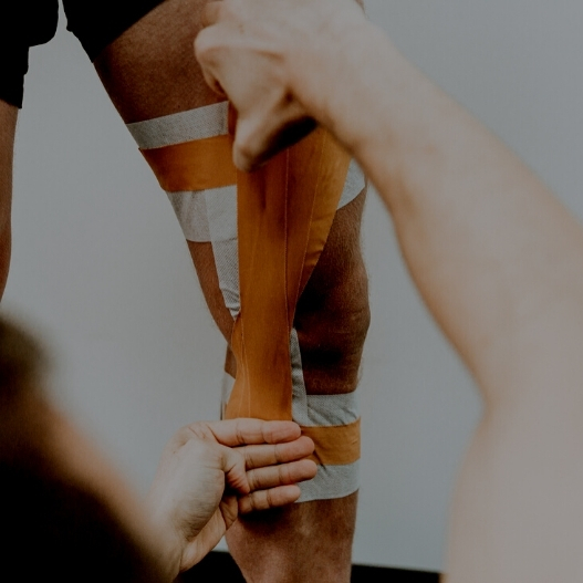 How to Strap the Knee/MCL with Zinc Oxide Tape