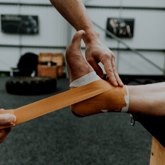 How to strap an ankle using Zinc Oxide Tape