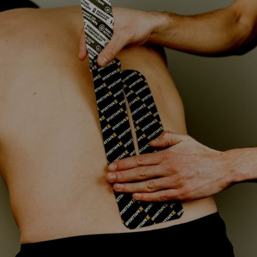 and image of the Kinesiology Tape Back Application