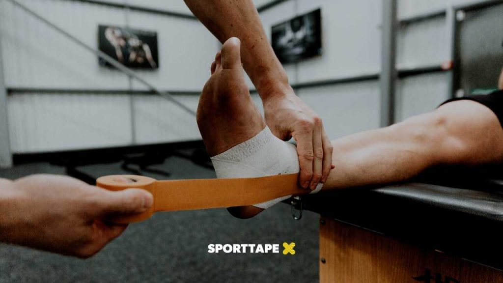 Ankle Strapping - Zinc Oxide Tape for the Ankle