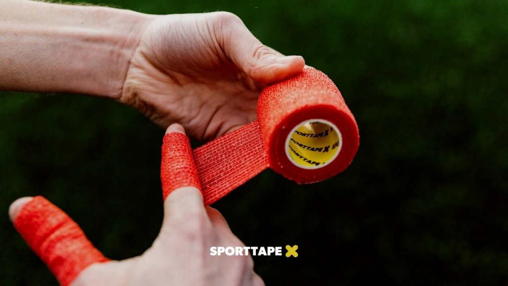 Goalkeeper Finger Tape - Bandage Taping with Cohesive Wrap