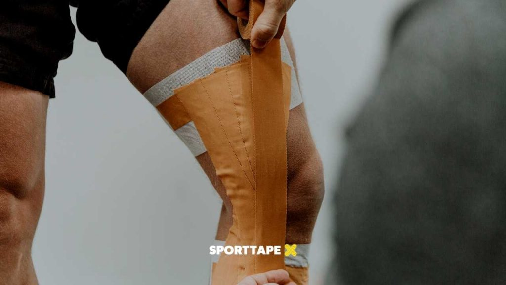 How to Strap the Knee with Zinc Oxide Tape