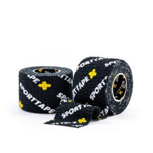 SPORTTAPE Thumb Tape Black 3.8cm 2 Rolls