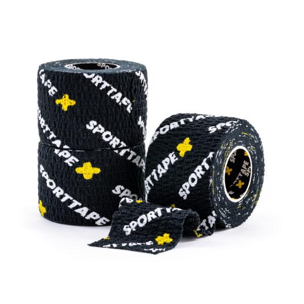 SPORTTAPE Thumb Tape Black 3.8cm 3 Rolls
